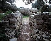 Spanien, Mallorca, Balearen, E-Arta, Megalithsiedlung, Ses Paises, Talaiot-Kultur, Zyklopische Bautechnik, Ausgrabung Spain, Majorca, Balearic Islands...