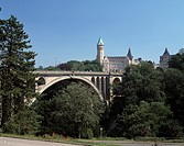 L-Luxemburg, Pont Adolphe, Staatssparkasse, L-Luxembourg, Adolphe Bridge, State Bank, UNESCO, Welterbe, Weltkulturerbe, UNESCO World Heritage Site - L...