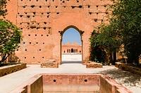 El Badii Palace, Marrakech (Marrakesh), Morocco, North Africa, Africa.