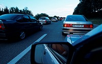 traffic jam on highway, Austria, Lower Austria, diverse