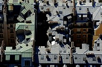 Paris -birds eye view, rooftops, France, Paris