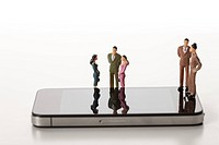 Figurines and mobile phones