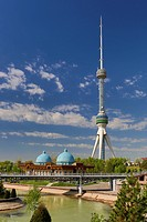 Tashkent, City, Tashkent, TV, television, Uzbekistan, Central Asia, Asia, architecture, blue, communication, domes, observatory, park, skyline, tall, ...