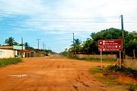 Information plaque, Pititinga beach, Rio do Fogo, Rio Grande do Norte, Brazil