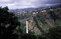 highway above the valley, Portugal, Madeira, Funchal