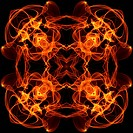 art vintage fiery geometric ornamental pattern