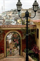 Guayaquil through an arch in the old part of town called Las Penas. (c) ian cook/axiom