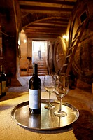 Wine cellar with self-service for guests, Finca Raims, rebuilt vineyard and country hotel, Algaida, Mallorca, Balearic Islands,