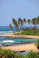 Sri Lanka, Galle, beach of Lighthouse Hotel,