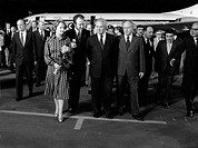 Margaret Thatcher And Alexei Kosygin At Moscow's Airport