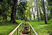 Italy, Veneto, Recoaro Terme, garden thermae.