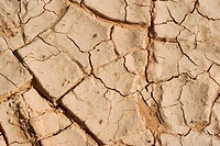Structures of a soil. A surface of desert sand for background