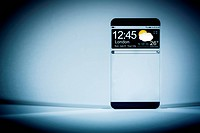 Smart phone with a transparent display.