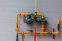 Abstract image of an industrial gas supply installation.