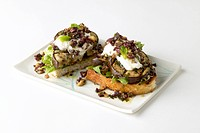 Open-face eggplant sandwiches
