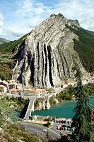 Montagne de la Baume, from Sisteron Provence, France.