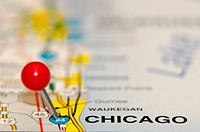 chicago city pin on the map