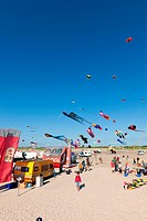 Kite festival, St Peter Ording, North Frisia, Schleswig-Holstein, Germany