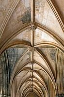 Cloister of King Afonso V, built 1438 - 1481, monastery of Santa Maria de Vitoria, aka Batalha monastery (14th - 16th century), World Heritage of UNES...