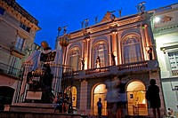 Teatre Museu Dalí at sunset, Figueres, Catalonia, Spain