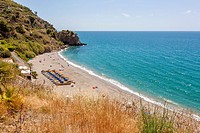 Playa de Maro, Axarquia, Costa del Sol, Malaga province, Andalusia, Spain, Europe.