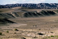 The Gobi desert, Dunhuang, Gansu, China.