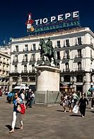 Puerta del Sol - Madrid – Comunidad de Madrid - España – Europa.