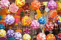 Latest designs of lanterns for sale on Diwali festival Mumbai Maharashtra India Asia