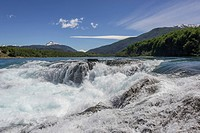 Rapids of the Baker River, Cochrane, Aysén Region, Chile