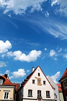 Historic houses on the Horse Market in Memmingen, Germany