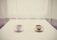 Two teacups on a table