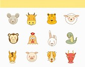 A set of animals
