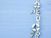 Cross knot on blue