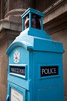 Old police telephone post, London