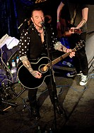 Ginger Wildheart perform an acoustic set at The Jazz Cafe during Camden Rocks Festival 2014 Featuring: Ginger Wildheart Where: London, United Kingdom ...