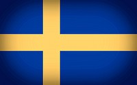 Retro look Flag of Sweden