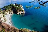 France, Finistere, Iroise Sea, Presqu'ile de Crozon, Cap de la Chevre, Pointe de Saint Hernot.