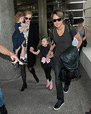 Nicole Kidman, Keith Urban and the rest of their family at LAX Featuring: Nicole Kidman,Keith Urban,Sunday Rose Kidman Urban,Faith Margaret Kidman Urb...