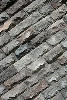 Gray Textured Bricks