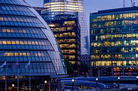 City Hall (London Assembly Building) and The More London Office Development, London, England.