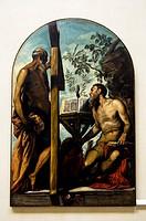 I santi Girolamo e Andrea by Jacopo robusti detto Tintoretto (Venezia 1519 - 1594) - Accademia dell Belle Arti - sestiere Dorsoduro, Venice - Italy.