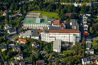 View of the chest clinic in Hemer in the state North Rhine-Westphalia. www.lungenklinik-hemer.de - Hemer, Nordrhein-Westfalen, Germany, 28/09/2014