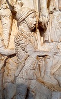 detail from the Column of Marcus Aurelius (Barbarian Embassy) circa 180-192 A.D.