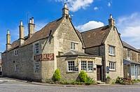 Fleur de Lys pub in Norton St Philip, Somerset, England, UK.