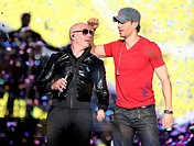 Enrique Iglesias and Pitbull perform live during their Fall Tour at the Mandalay Bay Events Center Featuring: Pitbull,Enrique Iglesias Where: Las Vega...
