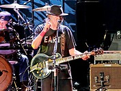 Neil Young performs live at Liverpool's Echo Arena Featuring: Neil Young,Ralph Molina Where: Liverpool, United Kingdom When: 13 Jul 2014 Credit: Sakur...