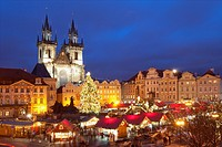 Czech Republic, Prague - Christmas Market at the Old Town Square.