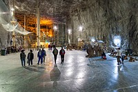 Romania, Transylvania, Praid, Praid Salt Mine, interior.