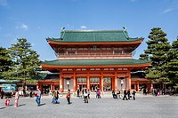 Japan , Kansai,Kyoto City,heian Jingu Shrine, (W.H.).