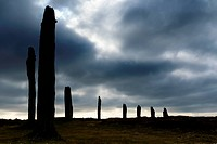 Ring of Brodgar standing stones, Orkney UK